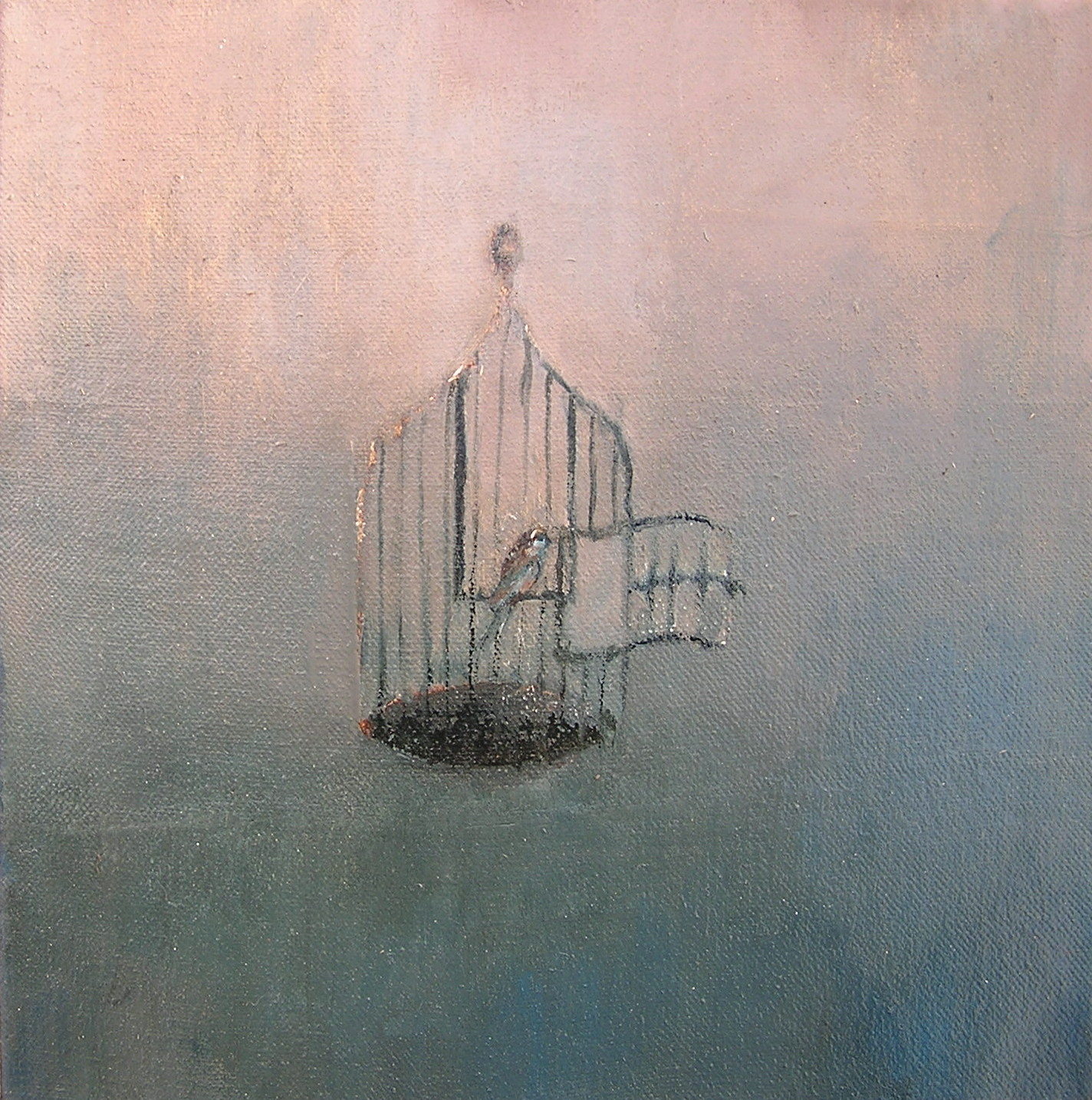 Bird Cage Freedom  bird cage ii  oil on canvasBird Freedom From Cage