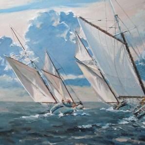 On the wind - 50cm x 50cm