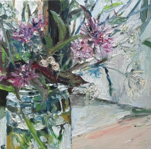 Wildflowers I - oil on canvas - 25cm x 25cm