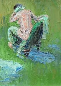 Green nude - 17.5cm x 12.5cm