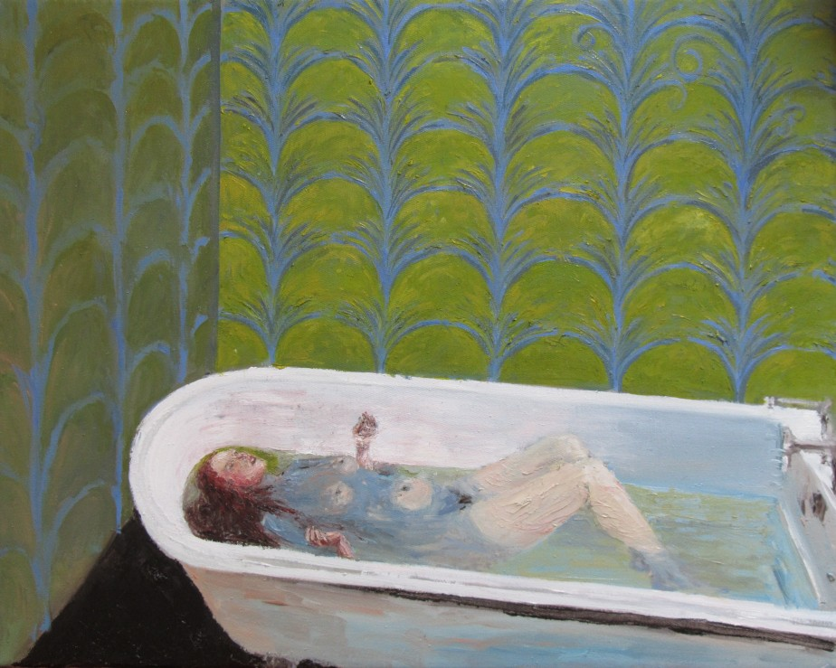 Ophelia in the bath - 40cm x 50cm