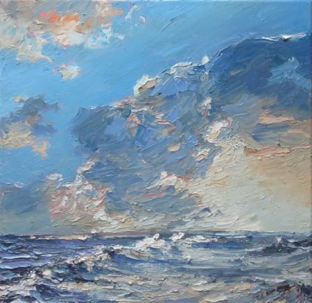 Sky and sea - 40cm x 40cm