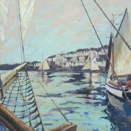 Leaving Harbour - 60cm x 60cm