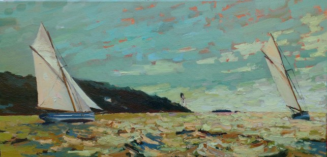 'Sea green' - 30cm x 60cm