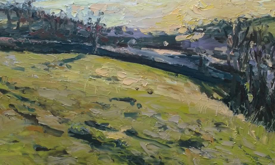 'Cliff Park field' - 25cm x 40cm