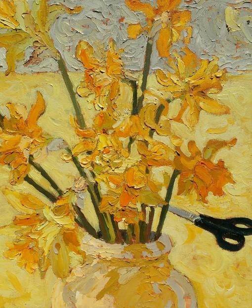 Daffodils, cut flowers - 30cm x 25cm