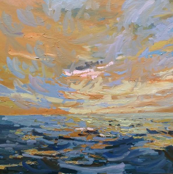 'Dancing sky' - 60cm x 60cm