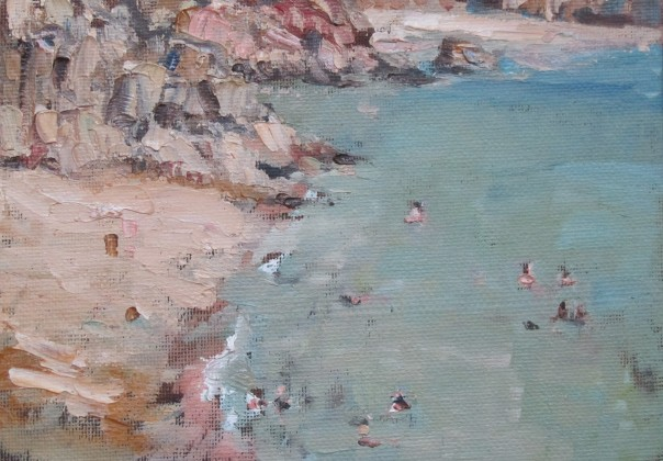 Down at Porthcurno - 5 inch x 7 inch