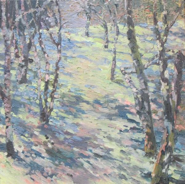 Evening, orchard - 40cm x 40cm