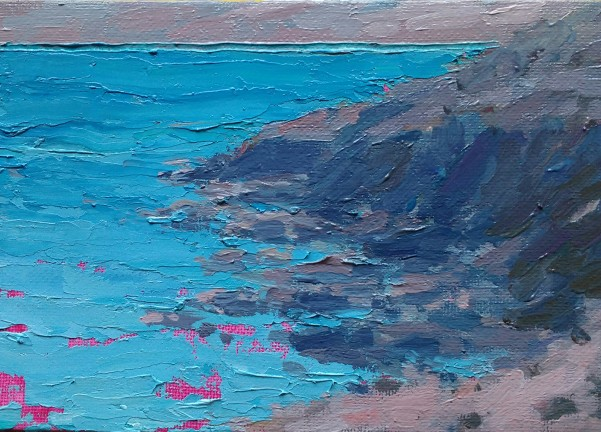'Just the sea' - 5 inch x 7 inch