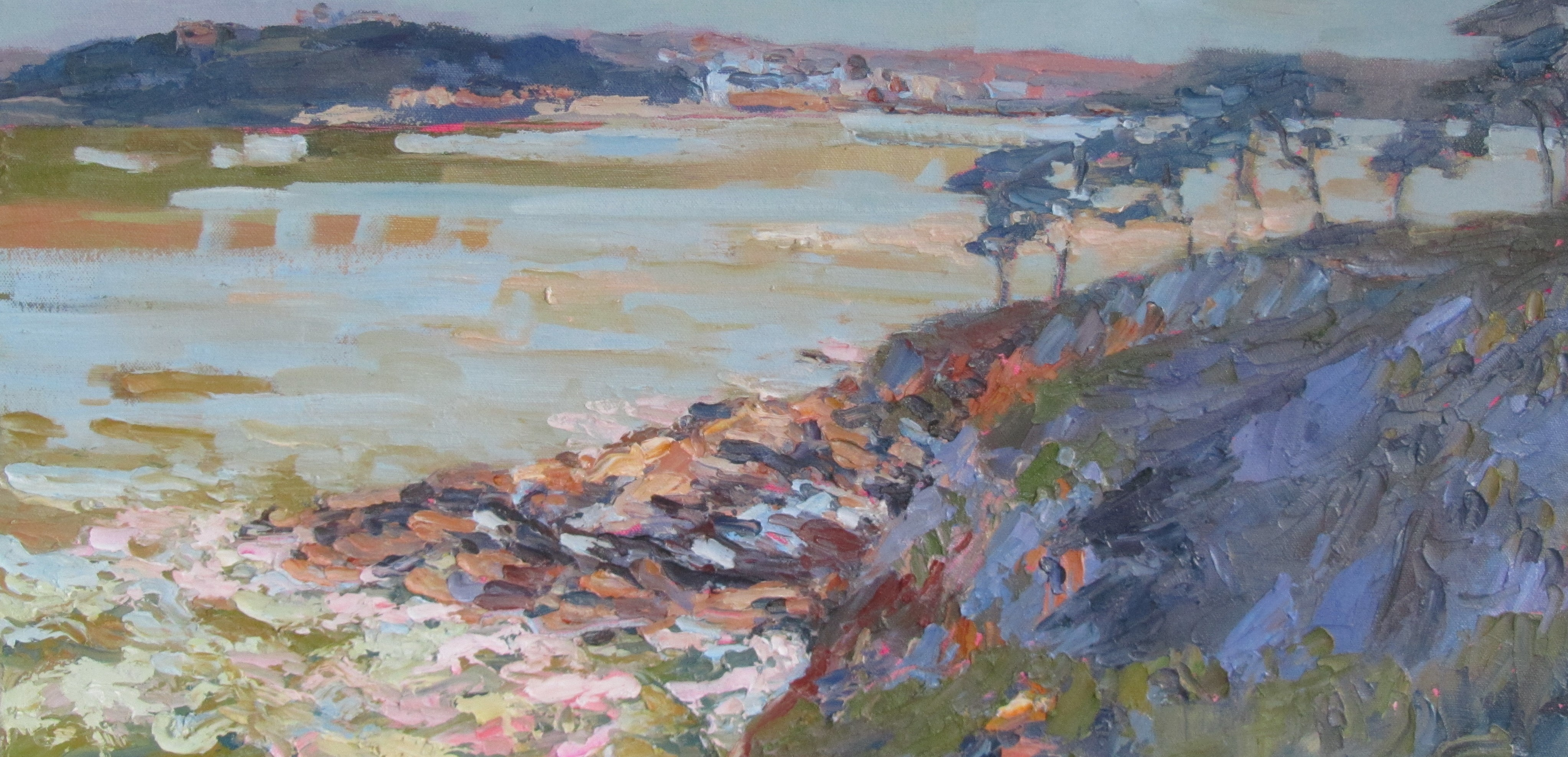 On the coast path - 30cm x 60cm