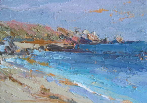 Porthcressa beach - Isles of Scilly - 12.5 x 18cm