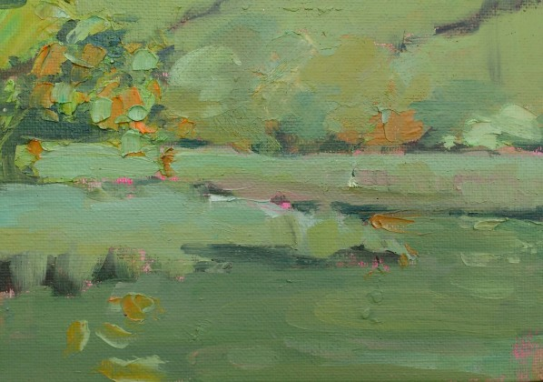 Salt marsh, Lynher - 12.5cm x 18cm