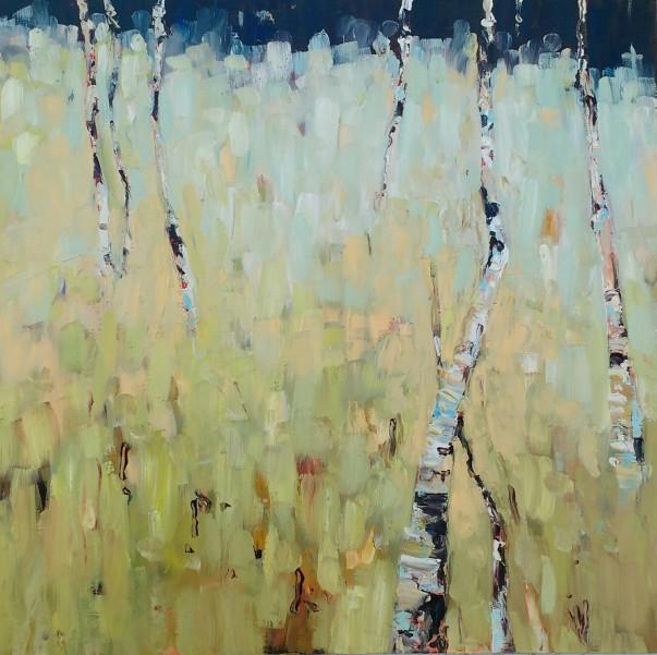 Silver birch - 40cm x 40cm