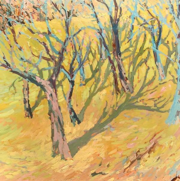 Spring trees - 50cm x 50cm