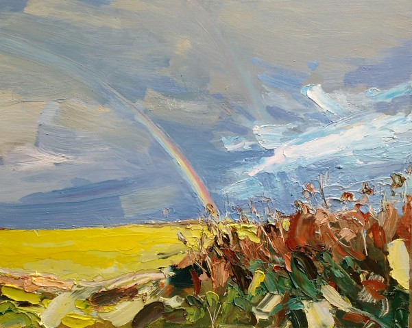 Sun and rain, Rame - 25cm x 30cm