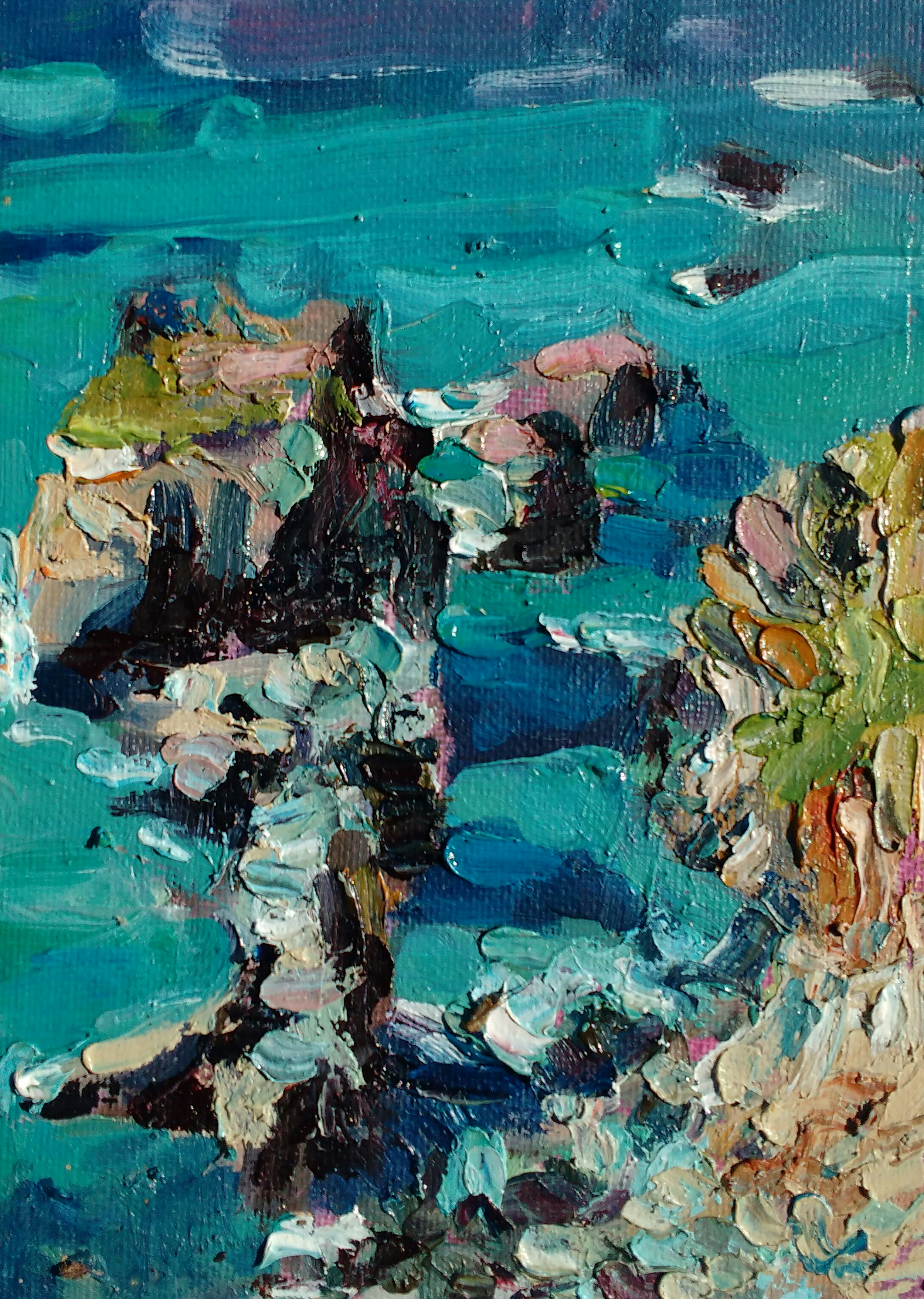 The walk to Perranporth - 18cm x 12.5cm