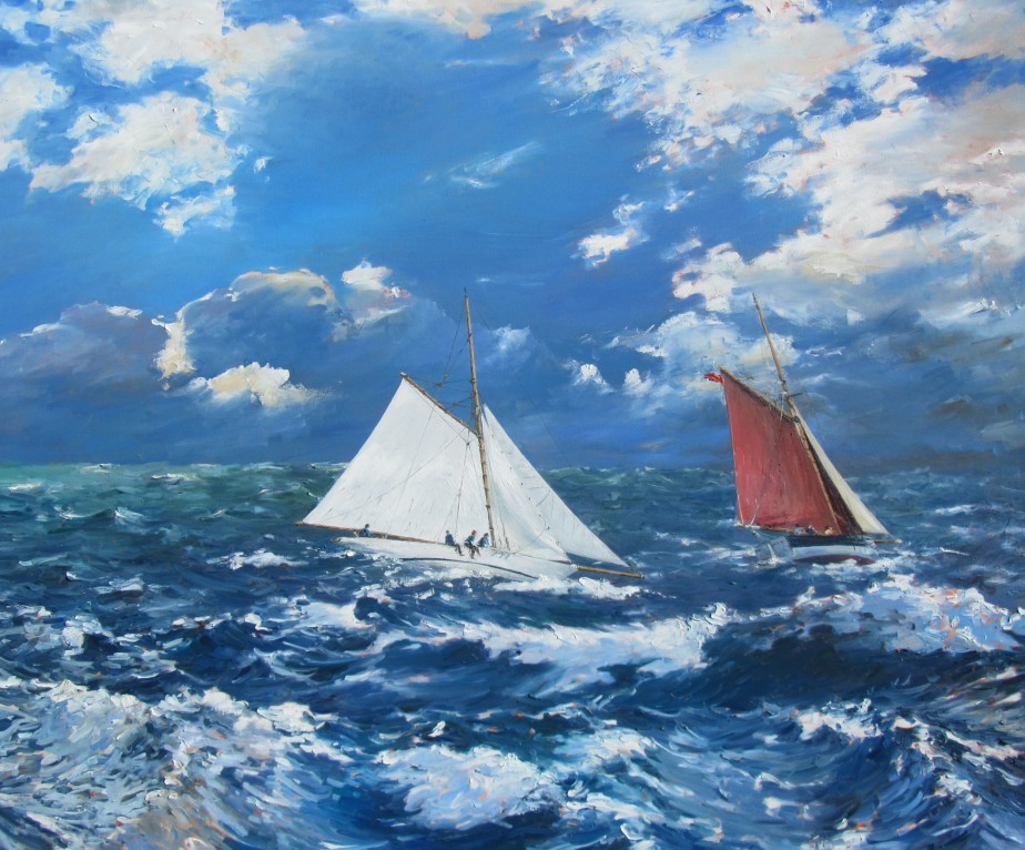 Wind, sea and sky - 100cm x 120cm