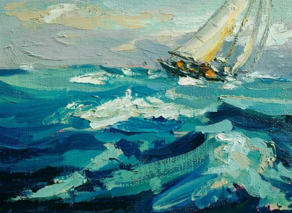 Wind and salt - 12.5cm x 18cm
